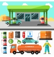 Gas station icons Refueling symbols vector image