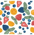 Berry pattern with fruits vector image