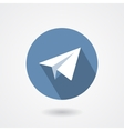 Paper plane icon isolated on white background vector image
