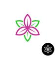 Leaves flower logo vector image