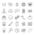 25 business icon set outline vector image vector image