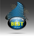 Best quality product label vector image