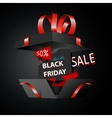 Black friday sale advertising special offer vector image vector image