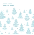 Blue decorated Christmas trees silhouettes textile vector image vector image