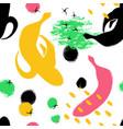 brush grunge banana seamless pattern vector image vector image