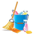 Bucket With Detergents vector image vector image