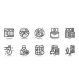 business icons set 2 vector image vector image