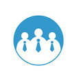business-people-icon vector image