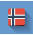 Button with flag of Norway vector image vector image