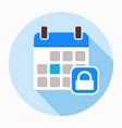 calendar lock security icon vector image vector image