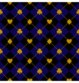 Card Suits Black Royal Blue Diamond Background vector image vector image