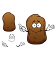 Cartoon brown potato vegetable character vector image vector image