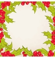 christmas frame border with mistletoe holly berry vector image vector image