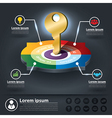 Circle Infographics of key success factors vector image
