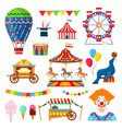 circus and amusement icons vector image