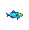 colorful swimming marine fish vector image vector image