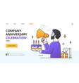 company anniversary celebration concept vector image vector image