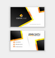corporative business card template latest vector image vector image