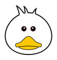 cute duck cute animal faces vector image vector image