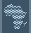 dark blue hexagonal pixel map africa african vector image