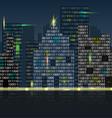 digital city vector image vector image