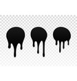 drip paint set ink stain drop melt liquid vector image