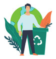 ecological awareness recycling garbage vector image vector image