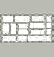 empty cinema or theater ticket set vector image vector image