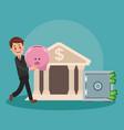 executive businessman cartoon vector image vector image