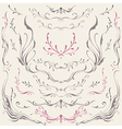 Floral frame and Border Ornaments vector image vector image