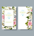flower butterfly banners vector image vector image