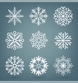 frosty snow set vector image