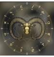 Golden Ram zodiac Aries sign vector image vector image