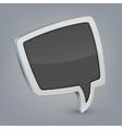 Gray cloud speech vector image vector image
