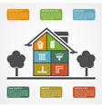 house infographic vector image vector image