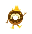 Humanized Doughnut With Chocolate Glazing Cowboy vector image vector image