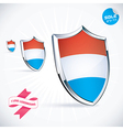 I Love Luxembourg Flag vector image