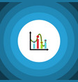 isolated graph flat icon chart element can vector image