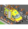 isometric roadside assistance truck vector image vector image