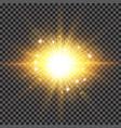 lighting effect sparkling sun rays burst vector image