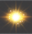 lighting effect sparkling sun rays burst with vector image vector image