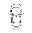 Little girl child standing person character