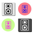 music column audio speakers flat icon vector image vector image