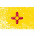 new mexico state flag grunge vector image vector image