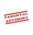Parental Advisory Watermark Stamp vector image