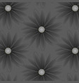 pattern with flowers with gray petals vector image vector image