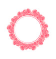 pink carnation flower banner wreath vector image
