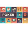 poker - modern flat design icons set vector image