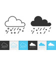 rain simple black line icon vector image