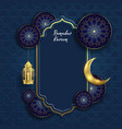ramadan kareem islamic background with moon and vector image vector image